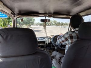 Riding in Indian Border Van 1