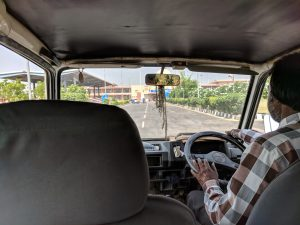 Riding in Indian Border Van 3